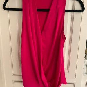 Amanda Uprichard silk blouse top pink size p